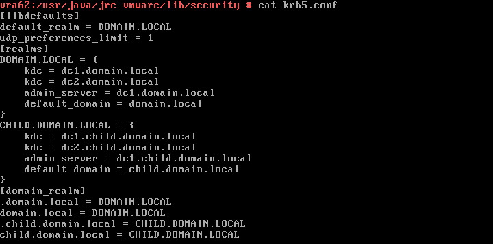 Example krb5_conf file