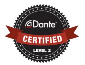 Dante level 2 certified