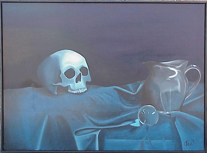 Still Life: Blue Skull