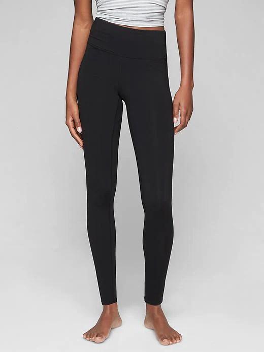 girl wearing black leggings from Athleta