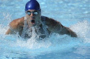 Strong Swimmer in Butterfly Stroke