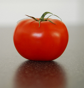 What a beautiful picture of a tomato, which everyone by now knows to be a fruit not a vegetable.