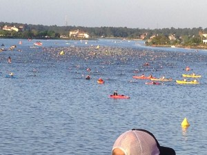 The 2014 Texas Ironman swim.
