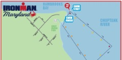 Swim map at 2014 Maryland Ironman.