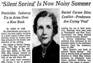 Rachael Carson Headline NYTimes