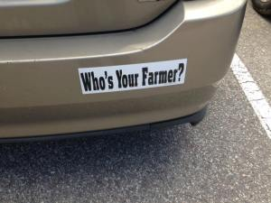 Know your farmer to save the animals. Eat less meat, or better meat, by knowing who's your farmer