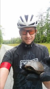 Not vegan athlete, Rick, saves turtle #9 for the year.