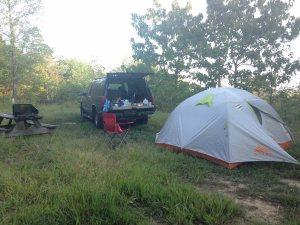 2016 Louisville Ironman, FitOldDog camping along the way.