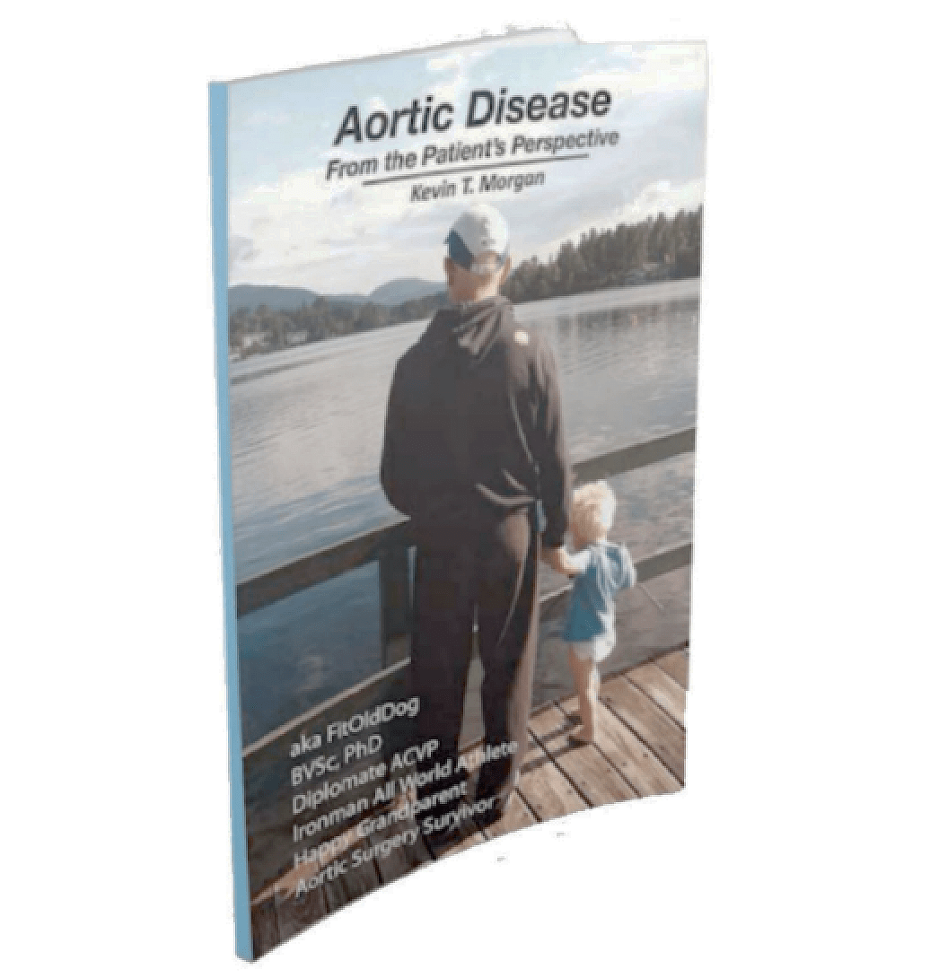 motivational speaker. Aortic disease book by FitOldDog