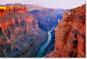 knee pain: Grand Canyon metaphor.