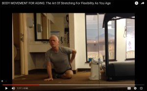 muscle strains, FitOldDog's stretching routine video.