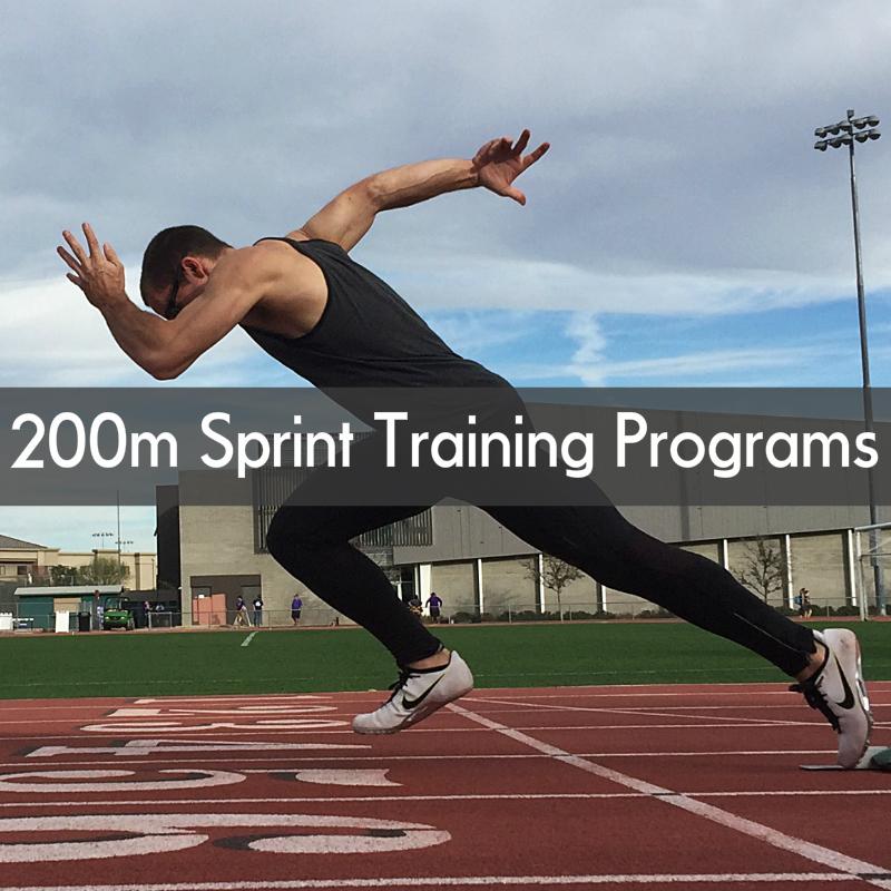200m dash sprint training program