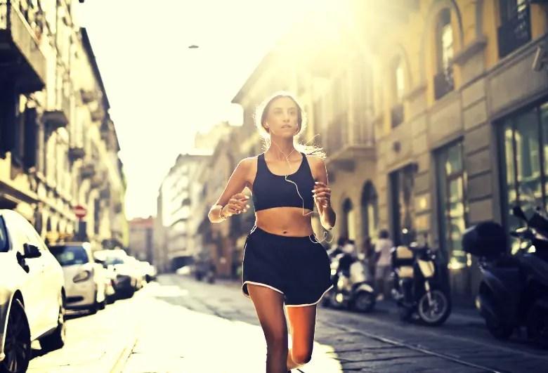 slim women running