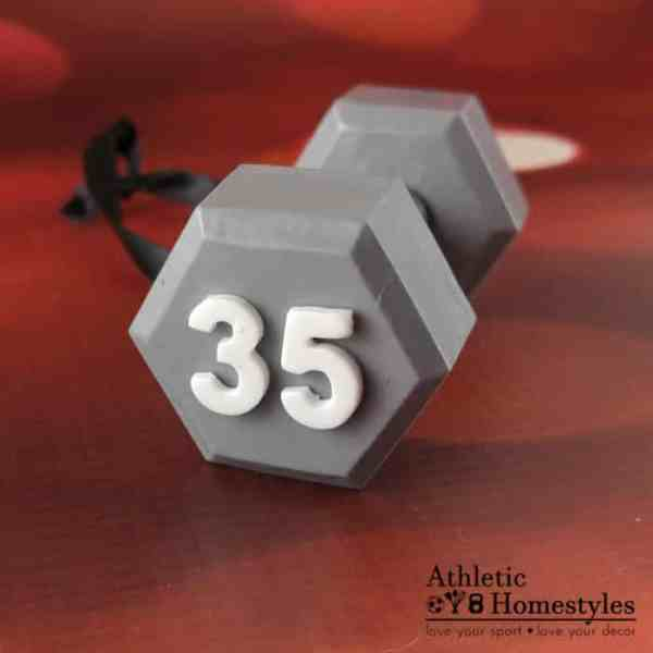 dumbbell ornament custom numbers crossfit bodybuilding powerlifting weightlifting strength sport