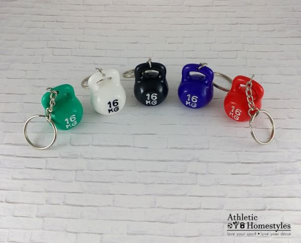 kettlebell keychains accessory accessories crossfit bag flair fun green white black purple red