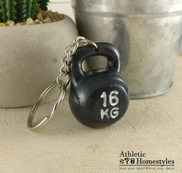 kettlebell keychain black athletic homestyles accessory collector crossfit strength
