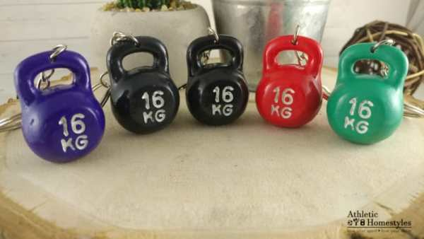 kettlebell keychains pick color purple black red green 16kg gift decor accessory purse bag