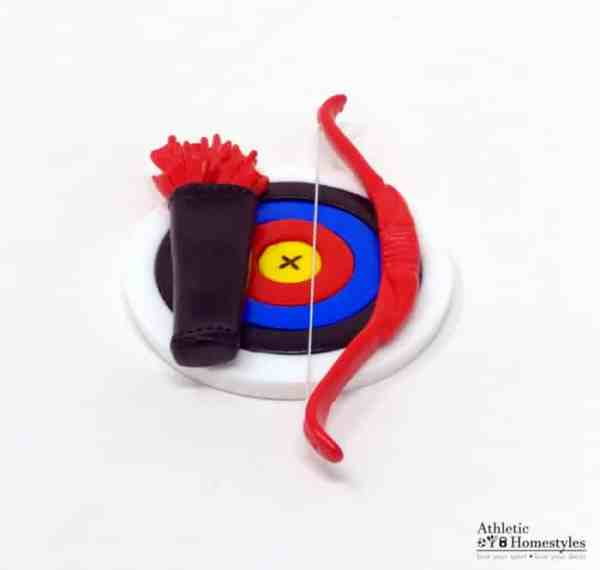 Archery Ornament Fridge Magnet Decoration Bow and Arrow Target