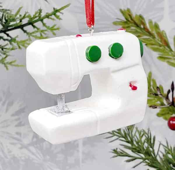 Sewing Machine Christmas Ornament Seamstress Birthday Gift Decoration Decor Tool Equipment