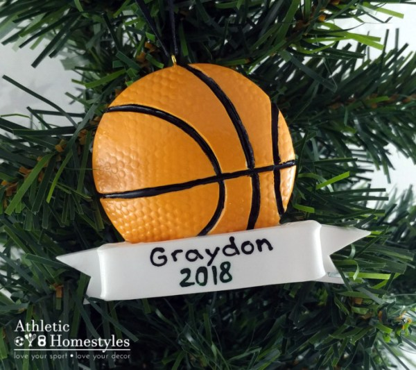 Basketball Sports Christmas Ornament