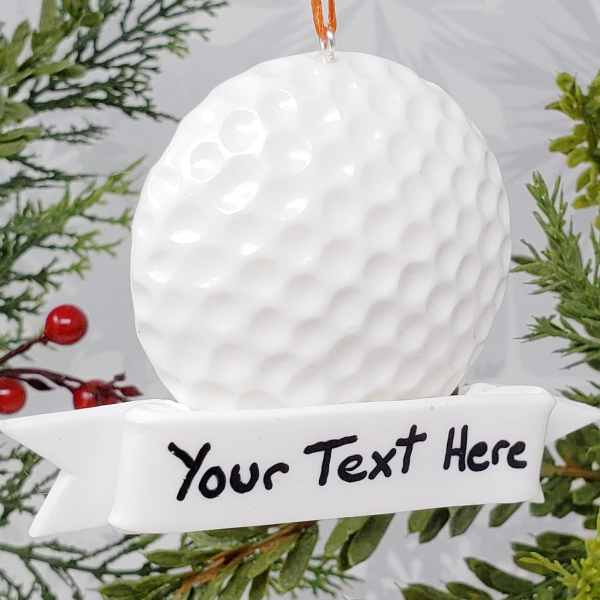Golf Ball Christmas Ornament Retirement Gift Summer Sports Golfing