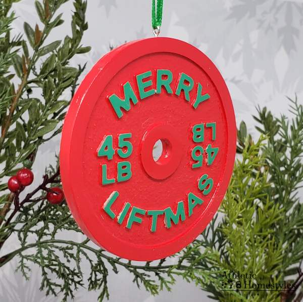 Merry Liftmas ya fitness animal christmas ornament barbell weight plate decoration gym crossfit powerlifting weightlifting strength sports