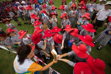 Batonbearer Sarah-Jane Bonner with the Baton a multi-school stop at Kitchener Park during the Queen's Baton Relay through Gunnedah. From 25 January to 2 March 2018, the Queen's Baton will visit every other state and territory before Queensland. As the Queen's Baton Relay travels the length and breadth of Australia, it will not just pass through, but spend quality time in each community it visits, calling into hundreds of local schools and community celebrations in every state and territory. The Gold Coast 2018 Commonwealth Games (GC2018) Queen's Baton Relay is the longest and most accessible in history, travelling through the Commonwealth for 388 days and 230,000 kilometres. After spending 100 days being carried by approximately 3,800 batonbearers in Australia, the Queen's Baton journey will finish at the GC2018 Opening Ceremony on the Gold Coast on 4 April 2018.