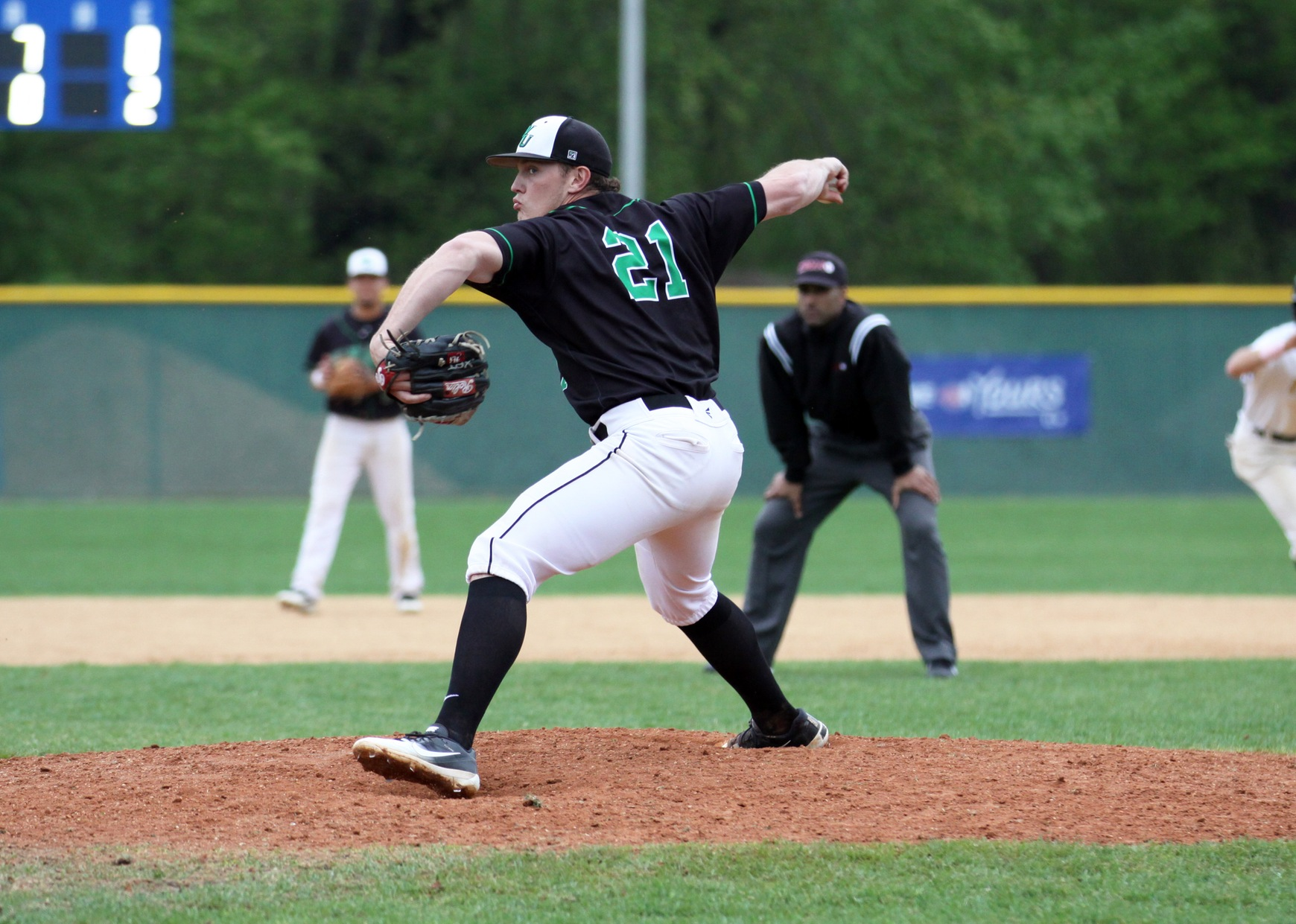 Copyright 2018; Wilmington University. All rights reserved. Photo by Dan Lauletta. May 13, 2018 vs. Felician in CACC Championship game 2.