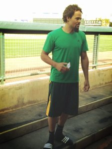 Coco Crisp takes a casual approach on Day 1