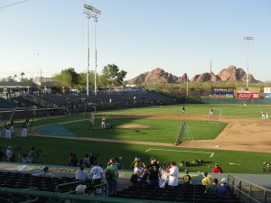 The scene at Phoenix Muni