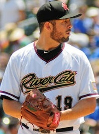 Sacramento River Cats' Pitcher Bruce Billings (6 IP / 4 H / 1 ER / 2 BB / 8 K / Win)