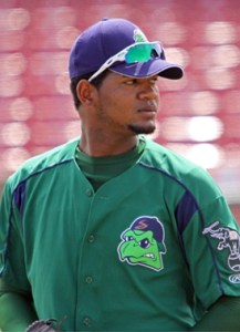 Stockton Ports Pitcher Raul Alcantara (7 IP / 6 H / 2 ER / 3 BB / 3 K)