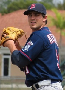 Stockton Ports Pitcher Tim Atherton (6 IP / 6 H / 2 ER / 1 BB / 5 K / Win)