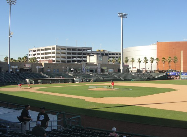 Stockton's Banner Island Ballpark before the start of Wednesday's game.
