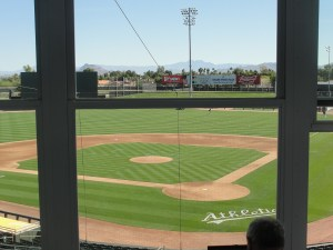 It's always a beautiful day for baseball in Arizona – unless you're prone to heat stroke