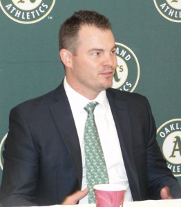 A's Chief Operating Officer Chris Giles