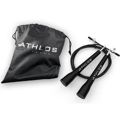 Athlos Fitness Adjustable High Speed Cable Jump Rope with Universal Ball Bearings