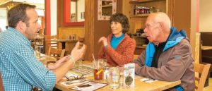 Leslie and Phil Aaholm discuss with Boulder Creek's David Gregg about specifics about their new home at Lanterns