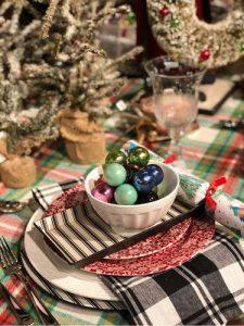 Plaid Holiday Tables