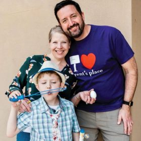 For Amber and Jonathan Saunders and their son Greyson, Brent's Place was a life-saving respite while Greyson recovered from a bone marrow transplant.