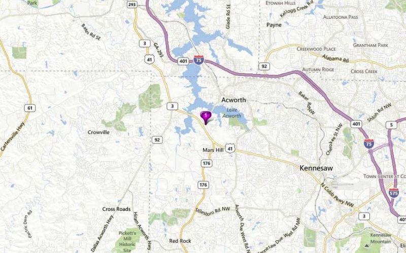 Acworth Map Abernathy Farm Location