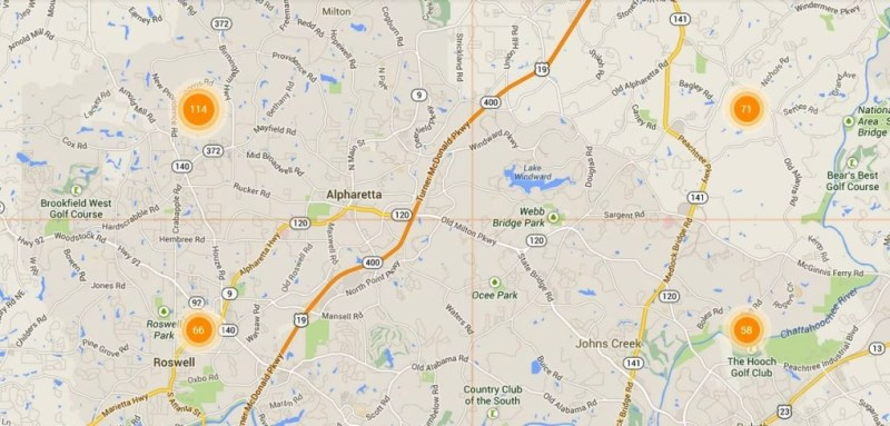 MLS Alpharetta Map Search Homes