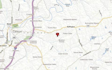 Canton Georgia Map Autumn Brook Location
