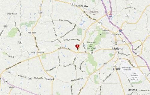 Marietta Georgia Map Zachary Woods Neighborhood