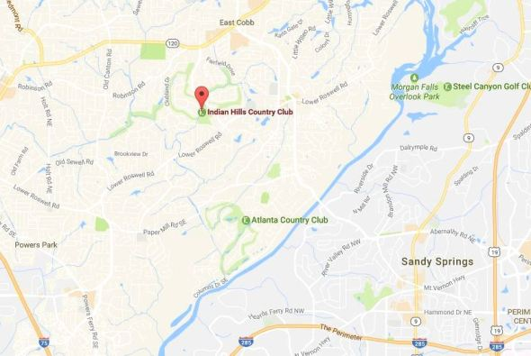 Indian Hills Country Club Map Location Cobb County
