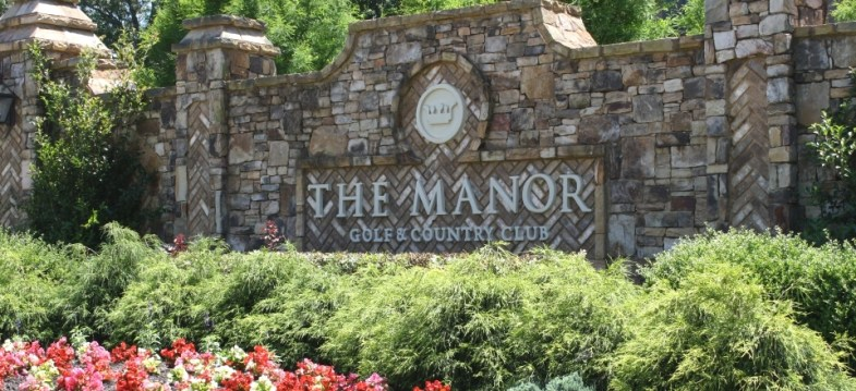 Entrance To The Manor Golf Country Club