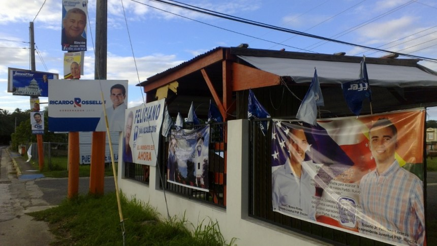 political signs - can't vote for president puerto rico