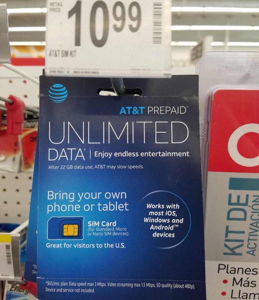 best deal on unlimited data - unregistered sim card