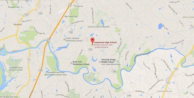 Map Location Of Centennial High School