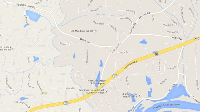 Roswell Map Located Of Mosspointe Neighborhood